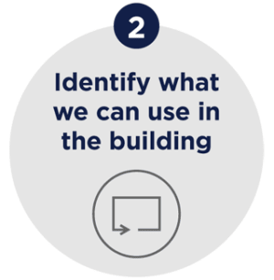2 - Identify what we can use in the building